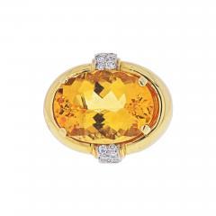 David Webb DAVID WEBB PLATINUM 18K YELLOW GOLD RING - 1934876