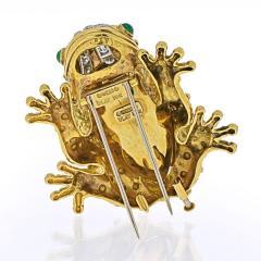 David Webb DAVID WEBB PLATINUM 18K YELLOW GOLD ROCK CRYSTAL FROG BROOCH - 1932134