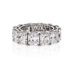David Webb DAVID WEBB PLATINUM RADIANT CUT DIAMOND 12 92 CARAT ETERNITY BAND - 1786192