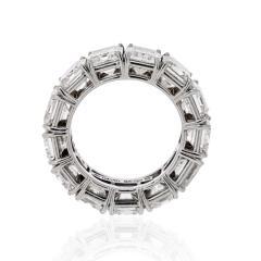David Webb DAVID WEBB PLATINUM RADIANT CUT DIAMOND 12 92 CARAT ETERNITY BAND - 1786194