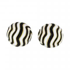 David Webb DAVID WEBB ZEBRA 18K YELLOW GOLD STRIPE CUFF LINKS - 1768593