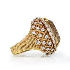 David Webb David Webb 18K Gold Diamond Citrine Ring - 1664759