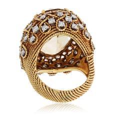 David Webb David Webb 18K Gold Diamond Citrine Ring - 1664762