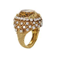 David Webb David Webb 18K Gold Diamond Citrine Ring - 1664763