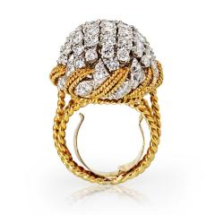 David Webb David Webb 18K Gold Diamond Pave Bombe Ring - 1664981