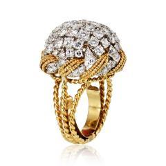 David Webb David Webb 18K Gold Diamond Pave Bombe Ring - 1664982