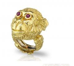 David Webb David Webb 18K Gold Monkey Ring - 1664775