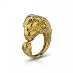 David Webb David Webb 18K Gold Ram Ring - 1666030