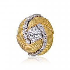 David Webb David Webb 18K Gold Turban Motif Old Cut Diamond Ring - 1666036