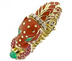 David Webb David Webb Animal Kingdom Enamel Serpent Bracelet - 458578