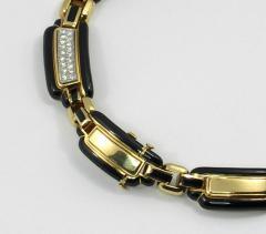 David Webb David Webb Black Enamel Diamonds Gold Necklace - 45114