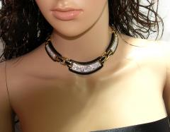 David Webb David Webb Black Enamel Diamonds Gold Necklace - 45115