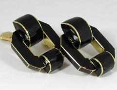 David Webb David Webb Black Enamel Gold Earrings - 80552