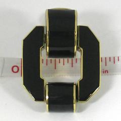 David Webb David Webb Black Enamel Gold Earrings - 80554