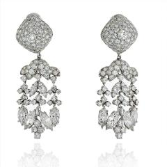 David Webb David Webb Day And Night 20 17 Carat Diamond Chandalier Earrings - 1672005