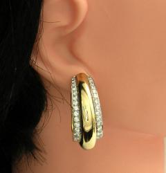David Webb David Webb Diamond Gold Hoop Earrings - 78635