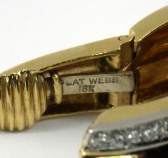 David Webb David Webb Diamond Gold Hoop Earrings - 78637