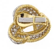 David Webb David Webb Diamond and Gold Knot Earrings - 457872