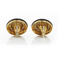 David Webb David Webb Enamel Diamond Clip On Earrings - 1671302
