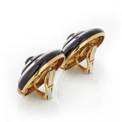 David Webb David Webb Enamel Diamond Clip On Earrings - 1671303