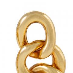 David Webb David Webb Gold Curb Link Door Knocker Earrings - 1304048