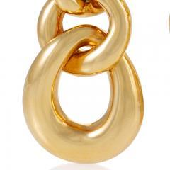 David Webb David Webb Gold Curb Link Door Knocker Earrings - 1304049