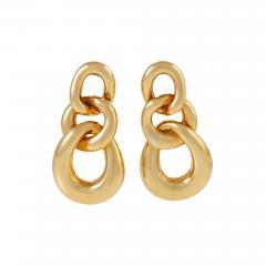 David Webb David Webb Gold Curb Link Door Knocker Earrings - 1308927