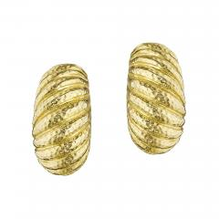 David Webb David Webb Late 20th Century Gold Bomb Shrimp Earrings - 1116279