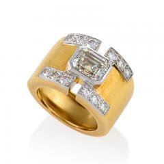David Webb David Webb Mid 20th Century Diamond Gold and Platinum Ring - 267446