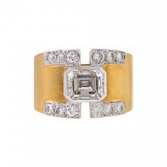 David Webb David Webb Mid 20th Century Diamond Gold and Platinum Ring - 267643