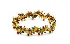 David Webb David Webb Multicolor Sapphire Emerald Diamonds Bracelet - 1674159