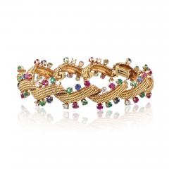David Webb David Webb Multicolor Sapphire Emerald Diamonds Bracelet - 1674240