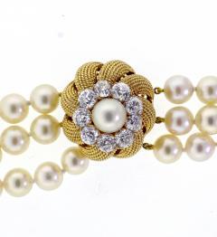 David Webb David Webb Pearl and Diamond Necklace - 701762