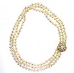 David Webb David Webb Pearl and Diamond Necklace - 701763