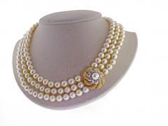 David Webb David Webb Pearl and Diamond Necklace - 701765
