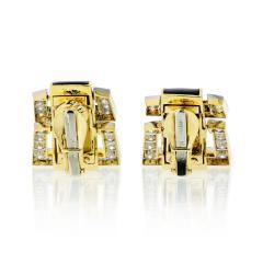 David Webb David Webb Strap Black Enamel Diamond Earrings - 1672018
