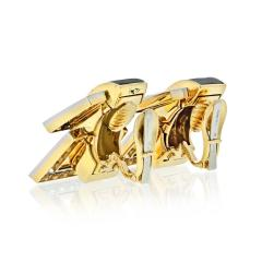 David Webb David Webb Strap Black Enamel Diamond Earrings - 1672019