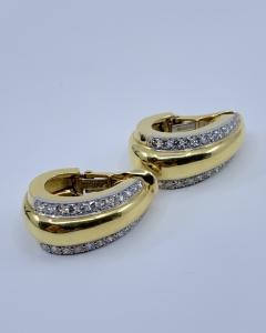 David Webb David Webb gold Diamond Earrings - 1933091