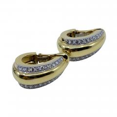 David Webb David Webb gold Diamond Earrings - 1934897