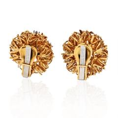 David Webb PLATINUM 18K YELLOW GOLD 1 25 CARAT DIAMOND FLOWER BURST CLIP EARRINGS - 1786226
