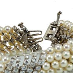David Webb White Pearl Diamond Bracelet - 1675030