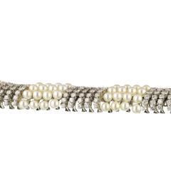 David Webb White Pearl Diamond Bracelet - 1675033