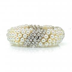 David Webb White Pearl Diamond Bracelet - 1676127
