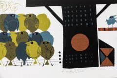 David Weidman Large 1960s Family of Birds Signed Handcrafted Silkscreen by David Weidman - 983991