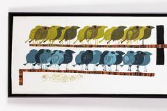 David Weidman Large 1960s Family of Birds Signed Handcrafted Silkscreen by David Weidman - 983993