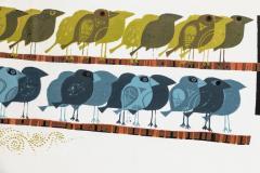 David Weidman Large 1960s Family of Birds Signed Handcrafted Silkscreen by David Weidman - 983994
