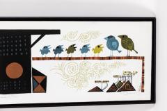 David Weidman Large 1960s Family of Birds Signed Handcrafted Silkscreen by David Weidman - 983995
