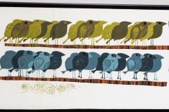 David Weidman Large 1960s Family of Birds Signed Handcrafted Silkscreen by David Weidman - 983996