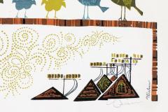 David Weidman Large 1960s Family of Birds Signed Handcrafted Silkscreen by David Weidman - 983997