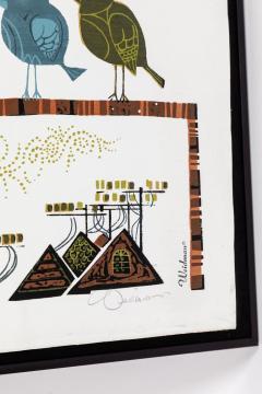 David Weidman Large 1960s Family of Birds Signed Handcrafted Silkscreen by David Weidman - 984000